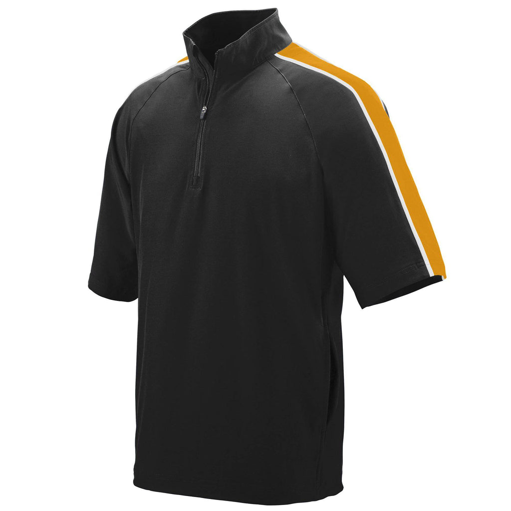 Augusta 3788 Quantum Short Sleeve Pullover - Black Gold White - HIT A Double