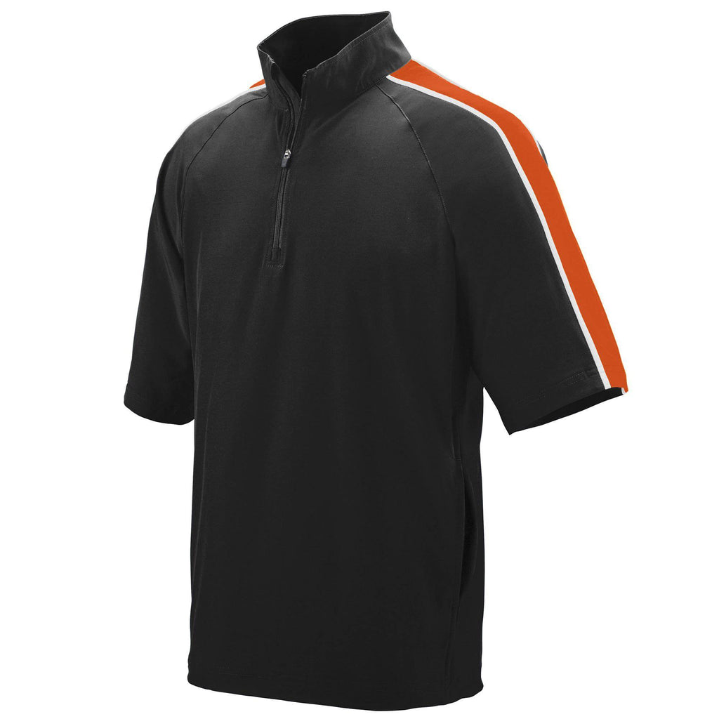 Augusta 3788 Quantum Short Sleeve Pullover - Black Orange White - HIT A Double