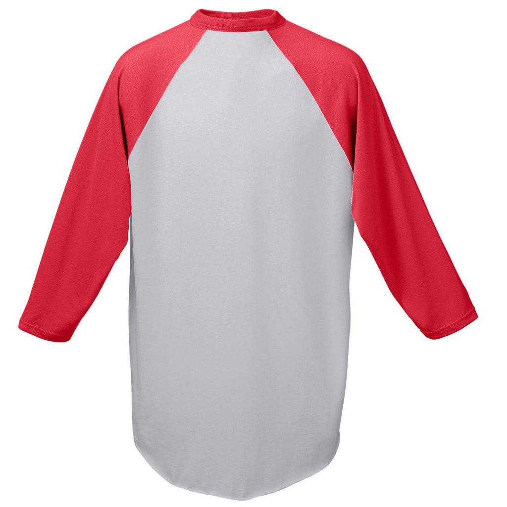 Augusta 420 Baseball Jersey - Athletic Heather Red - HIT A Double