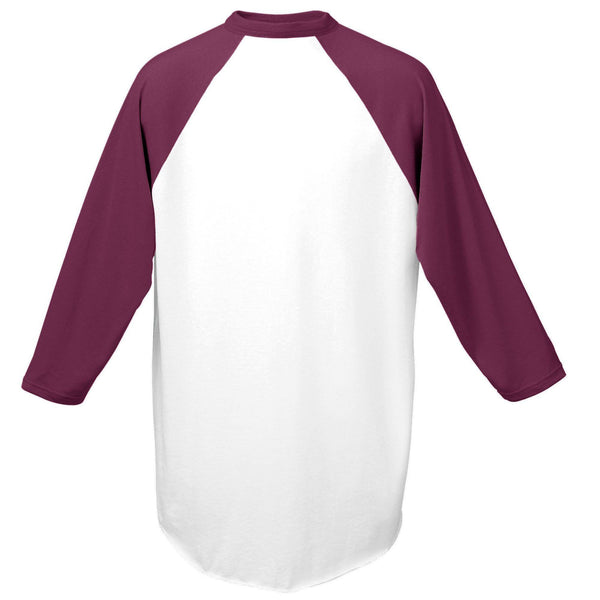 Augusta 420 Baseball Jersey - White Maroon - HIT A Double