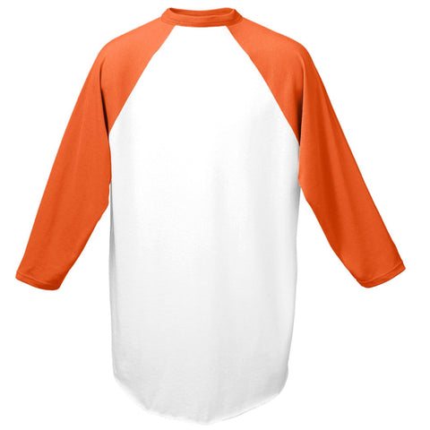 Augusta 420 Baseball Jersey - White Orange - HIT A Double
