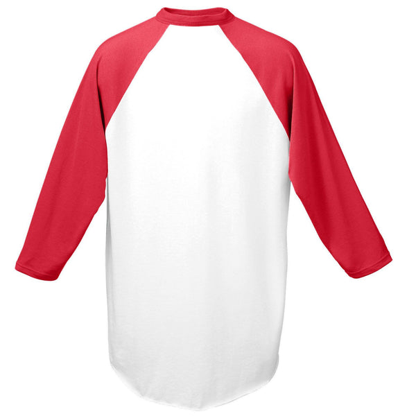 Augusta 420 Baseball Jersey - White Red - HIT A Double