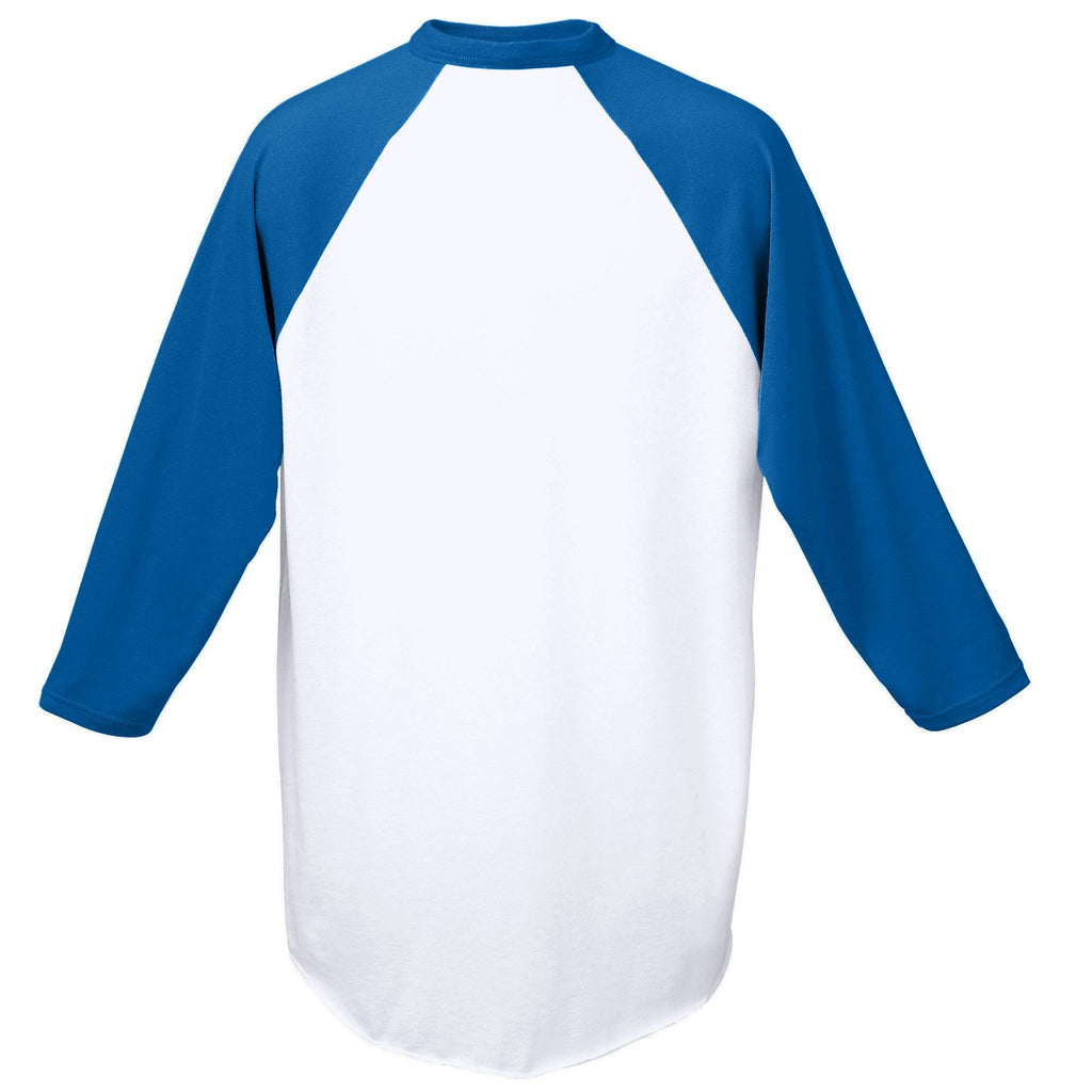 Augusta 420 Baseball Jersey - White Royal - HIT A Double
