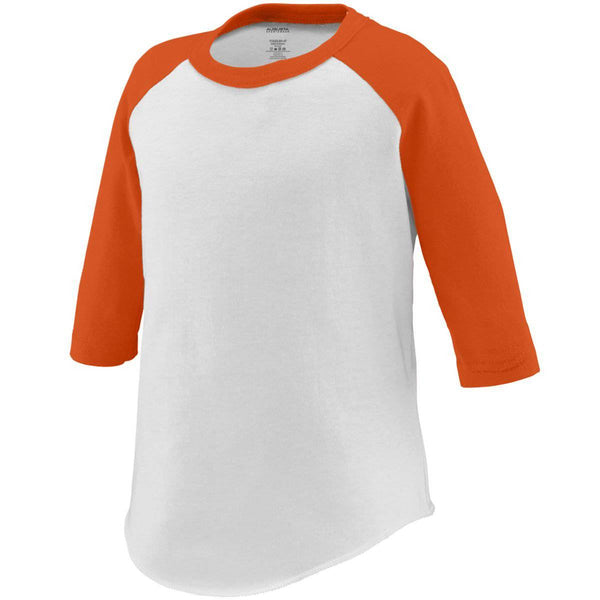 Augusta 422 Baseball Jersey - Toddler - White Orange - HIT A Double