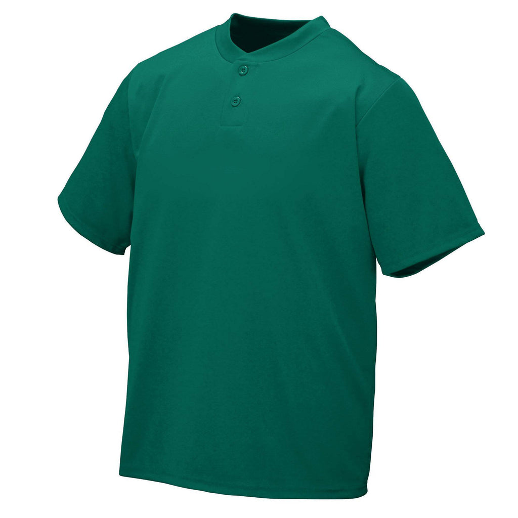 Augusta 426 Wicking Two-Button Jersey - Dark Green - HIT A Double