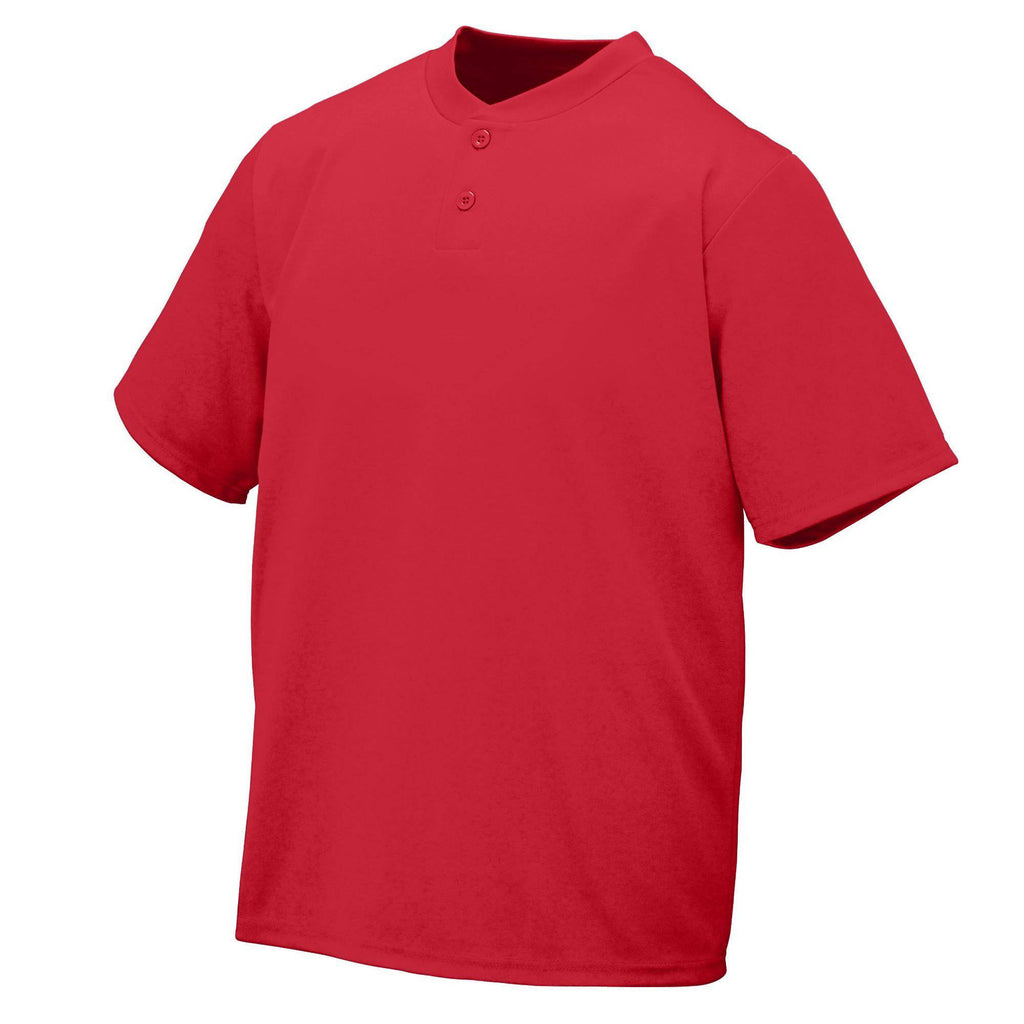 Augusta 426 Wicking Two-Button Jersey - Red - HIT A Double