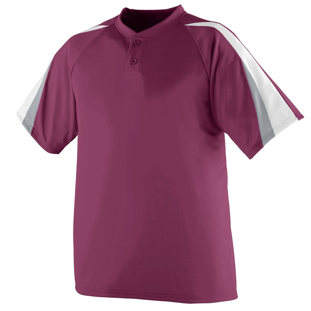 Augusta 429 Power Plus Jersey - Youth - Maroon White Silver Gray - HIT A Double