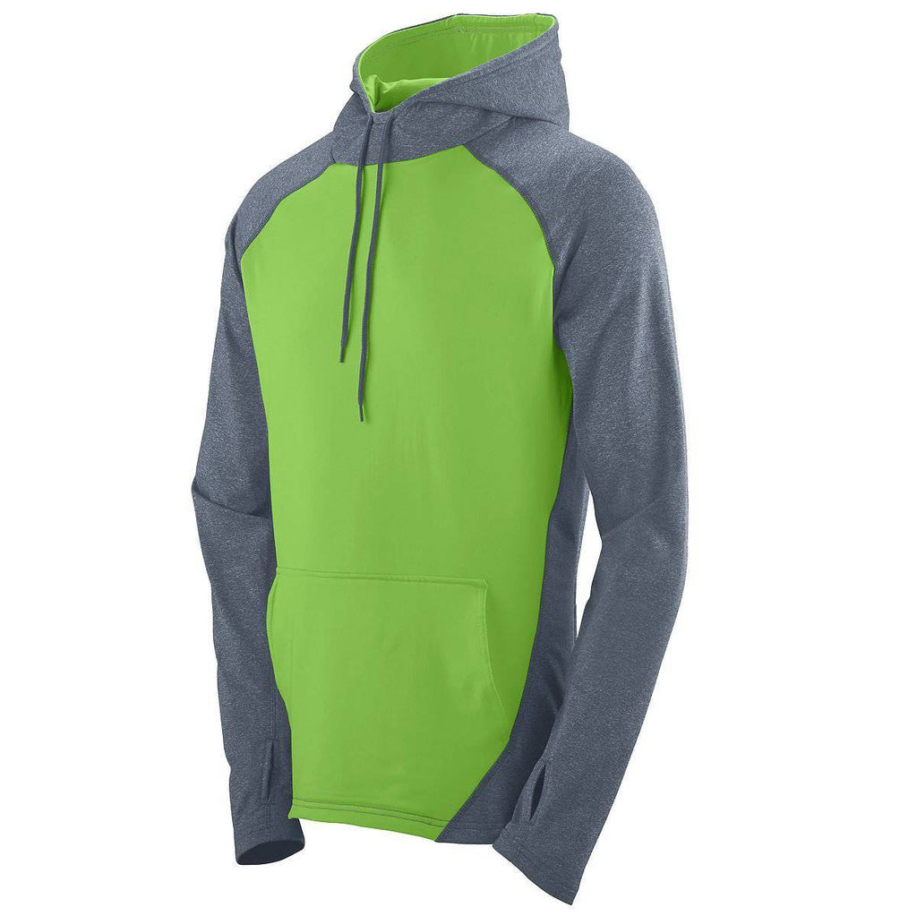 Augusta 4762 Zeal Hoody - Graphite Heather Lime - HIT A Double