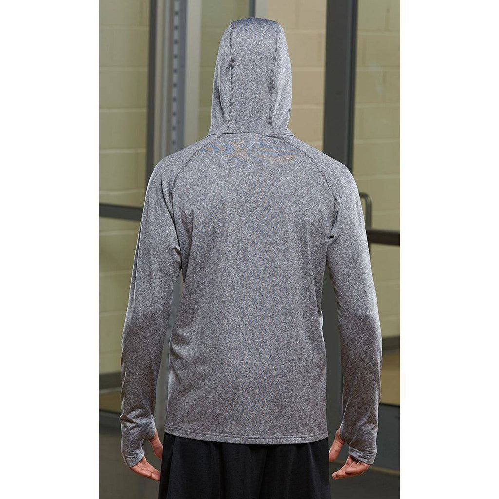 Augusta 4762 Zeal Hoody - Graphite Heather Power Blue - HIT A Double