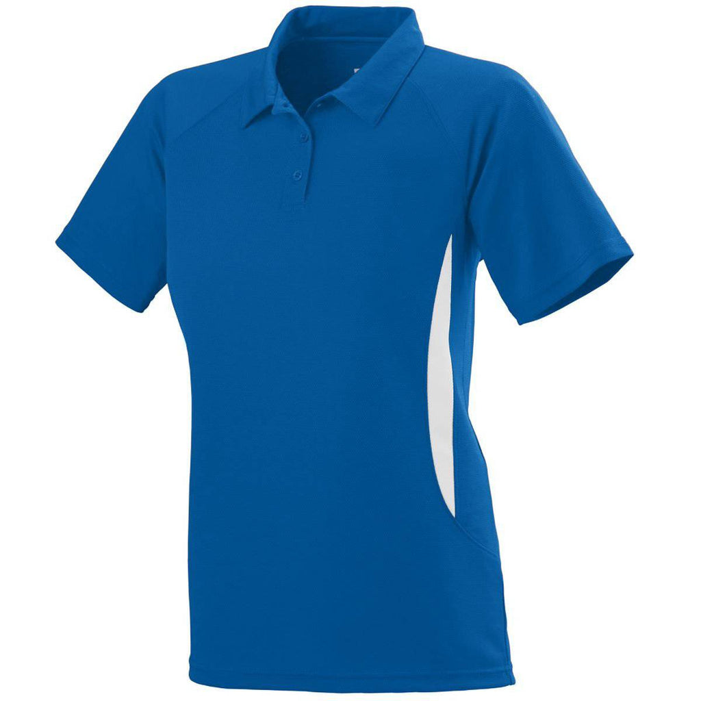Augusta 5006 Ladies Mission Sport Shirt - Royal White - HIT A Double