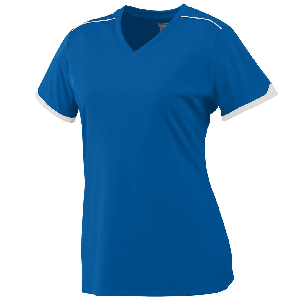 Augusta 5045 Ladies Motion Jersey - Royal White - HIT A Double