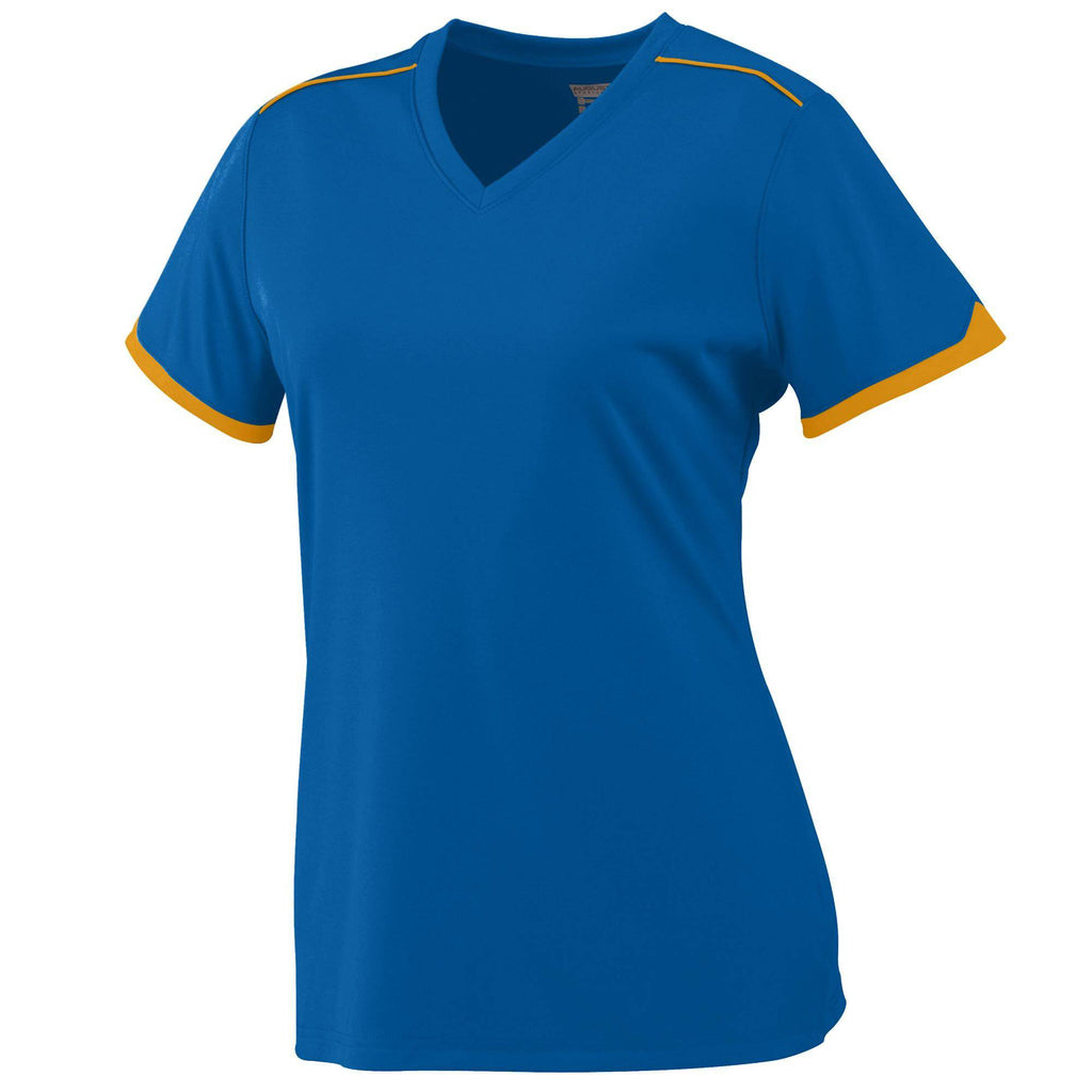 Augusta 5046 Girls Motion Jersey - Royal Gold - HIT A Double