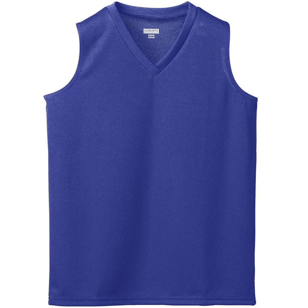 Augusta 526 Girls Wicking Mesh Sleeveless Jersey - Purple - HIT A Double