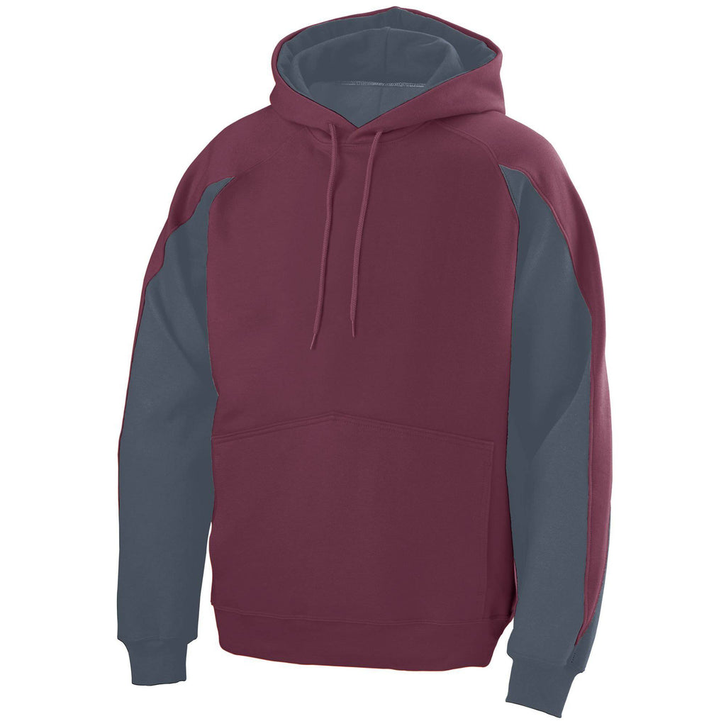 Augusta 5461 Volt Hoody - Youth - Dark Maroon Graphite - HIT A Double