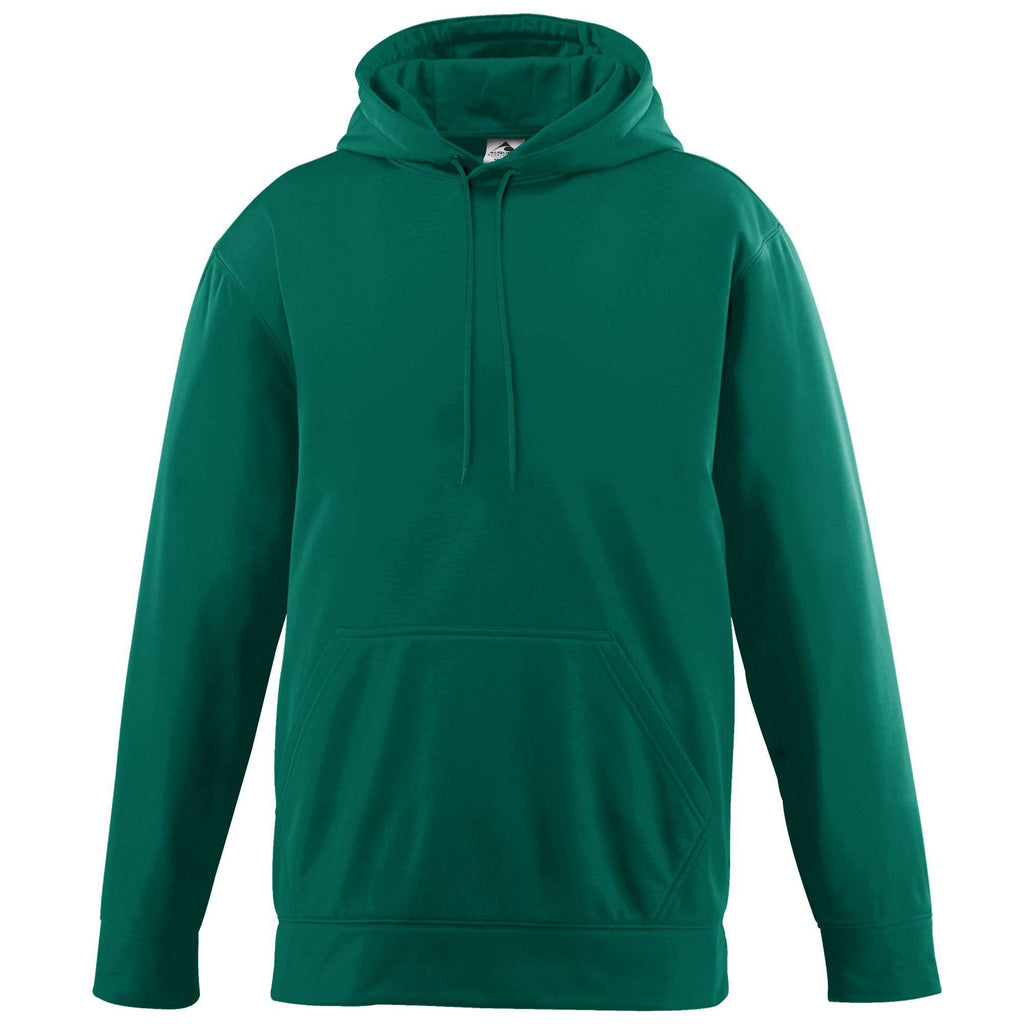 Augusta 5505 Wicking Fleece Hooded Sweatshirt - Dark Green - HIT A Double