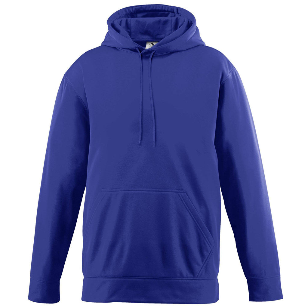 Augusta 5505 Wicking Fleece Hooded Sweatshirt - Purple - HIT A Double