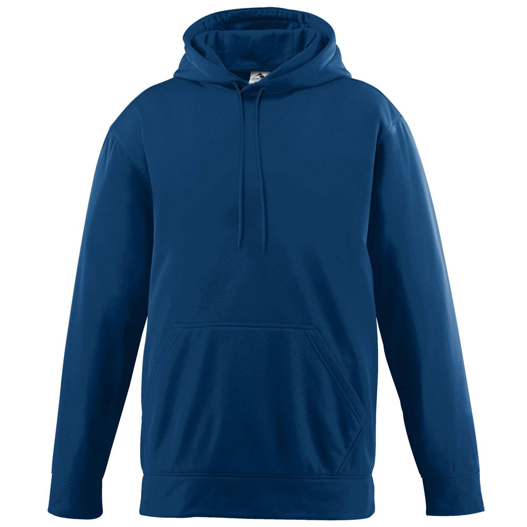 Augusta 5506 Wicking Fleece Hooded Sweatshirt - Youth - Navy - HIT A Double