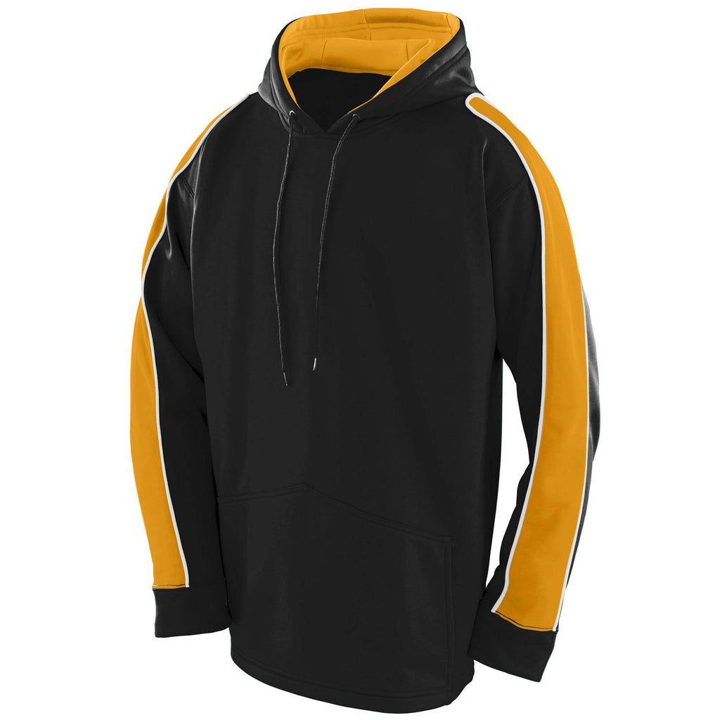 Augusta 5524 Zest Hoody - Youth - Black Gold White - HIT A Double
