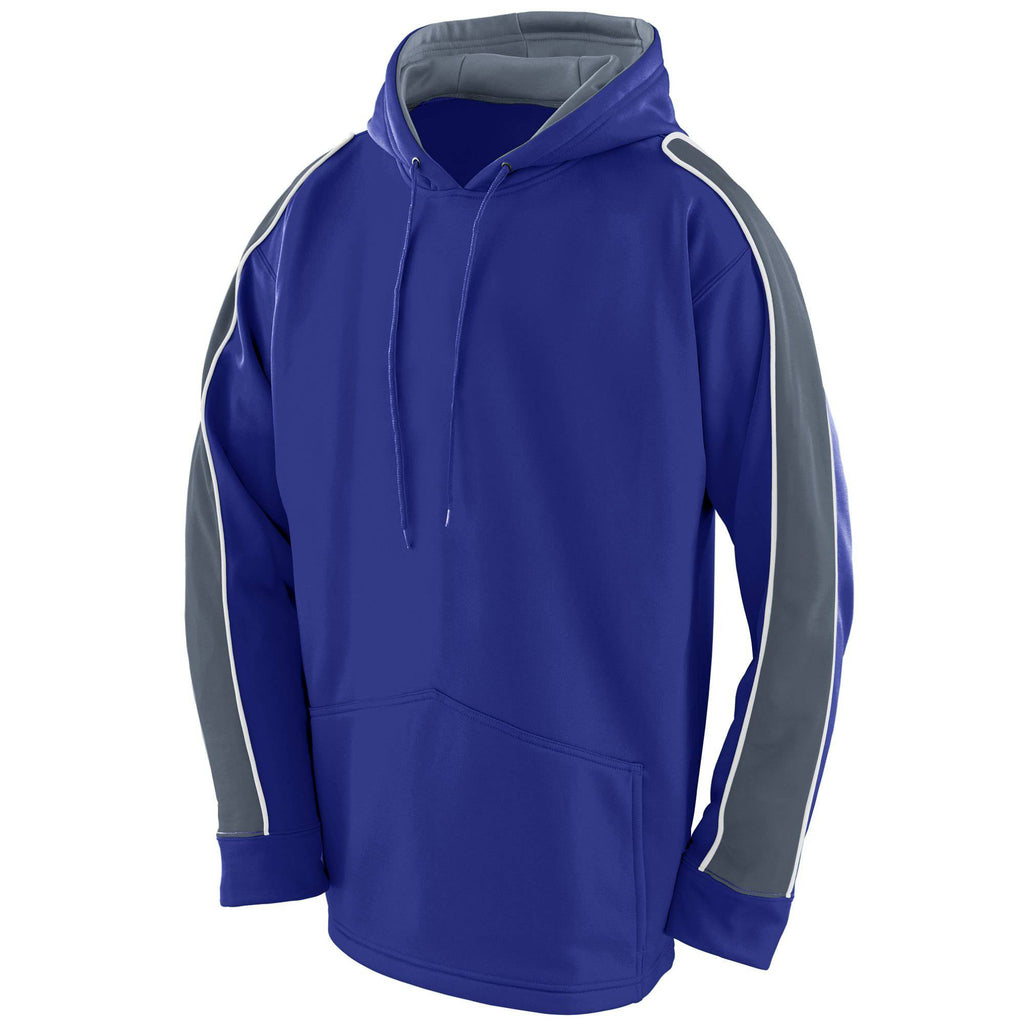 Augusta 5524 Zest Hoody - Youth - Purple Graphite White - HIT A Double