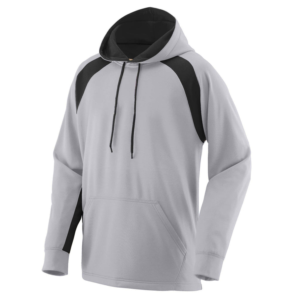 Augusta 5527 Fanatic Hooded Sweatshirt - Athletic Gray Black - HIT A Double