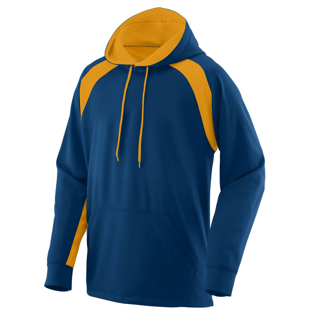 Augusta 5527 Fanatic Hooded Sweatshirt - Navy Gold - HIT A Double