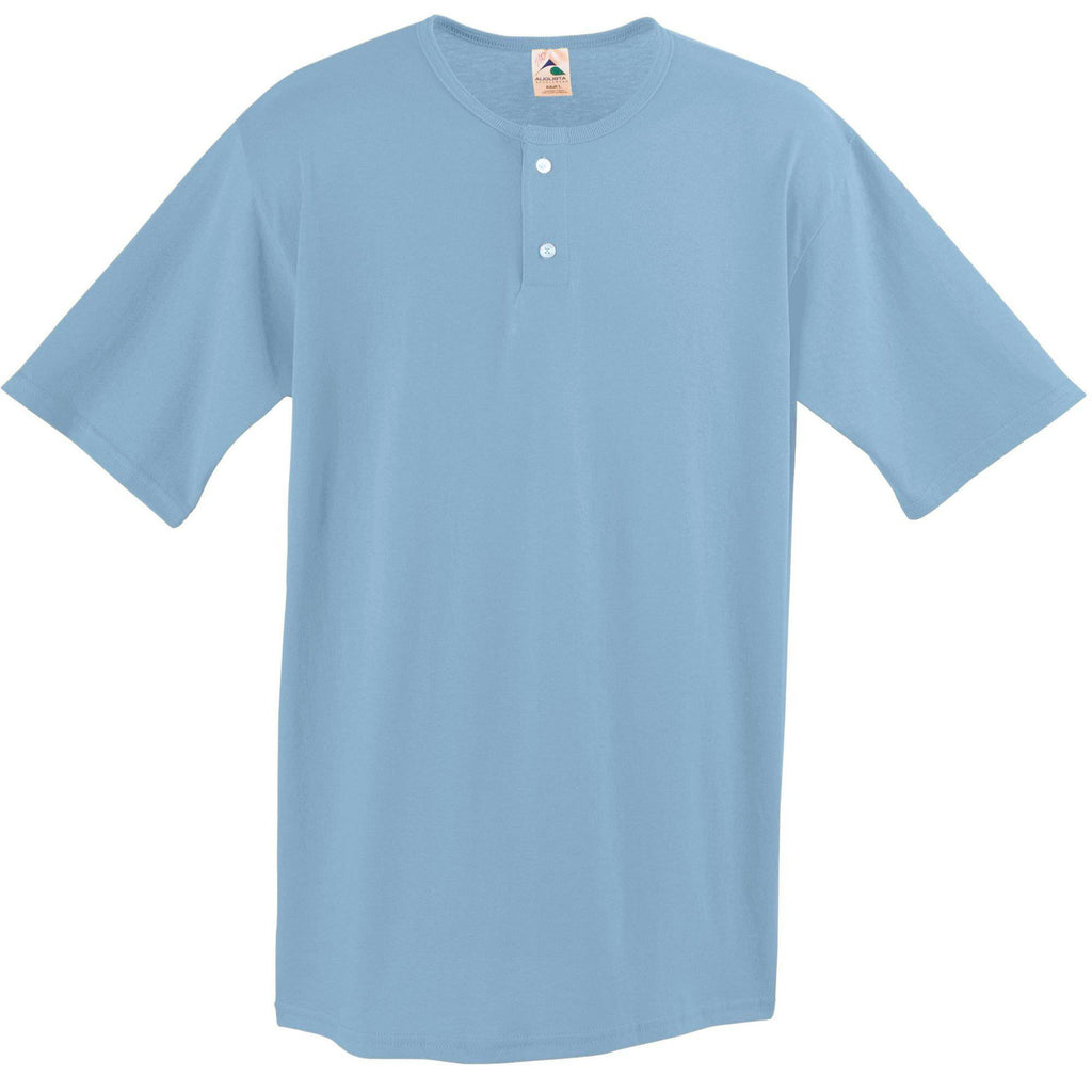 Augusta 581 Two-Button Baseball Jersey - Youth - Light Blue - HIT A Double