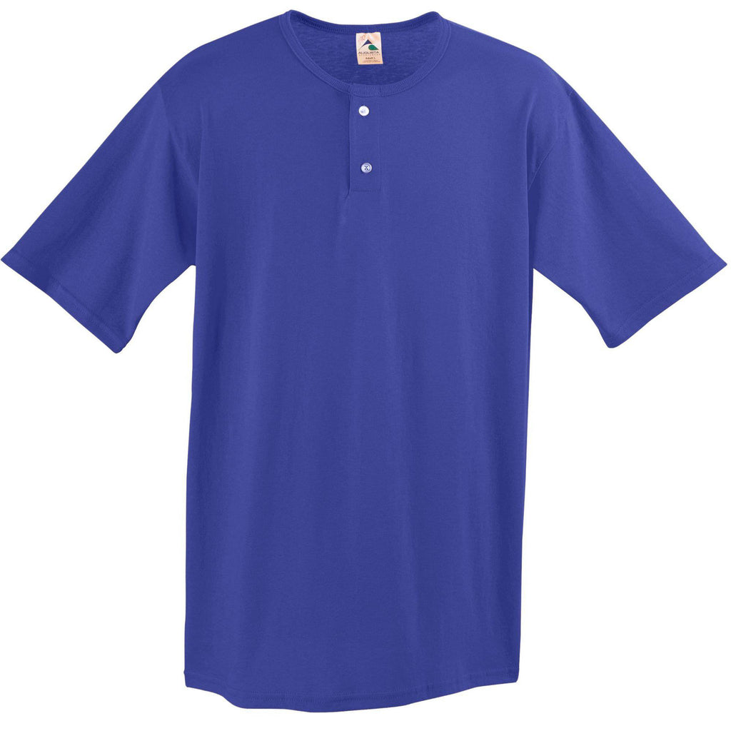 Augusta 581 Two-Button Baseball Jersey - Youth - Purple - HIT A Double