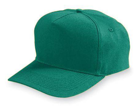 Augusta 6202 Five-Panel Cotton Twill Cap - Dark Green - HIT A Double
