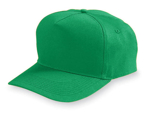 Augusta 6202 Five-Panel Cotton Twill Cap - Kelly - HIT A Double