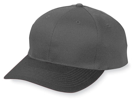 Augusta 6204 Six-Panel Cotton Twill Low-Profile Cap - Black - HIT A Double