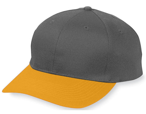 Augusta 6204 Six-Panel Cotton Twill Low-Profile Cap - Black Gold - HIT A Double