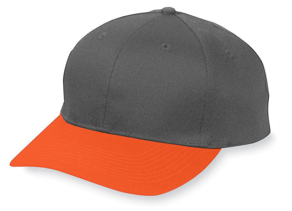 Augusta 6204 Six-Panel Cotton Twill Low-Profile Cap - Black Orange - HIT A Double