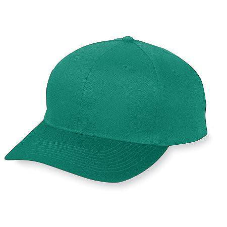 Augusta 6204 Six-Panel Cotton Twill Low-Profile Cap - Dark Green - HIT A Double