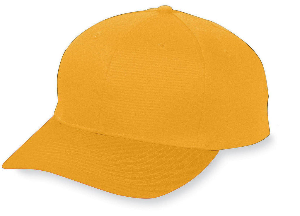 Augusta 6204 Six-Panel Cotton Twill Low-Profile Cap - Gold - HIT A Double