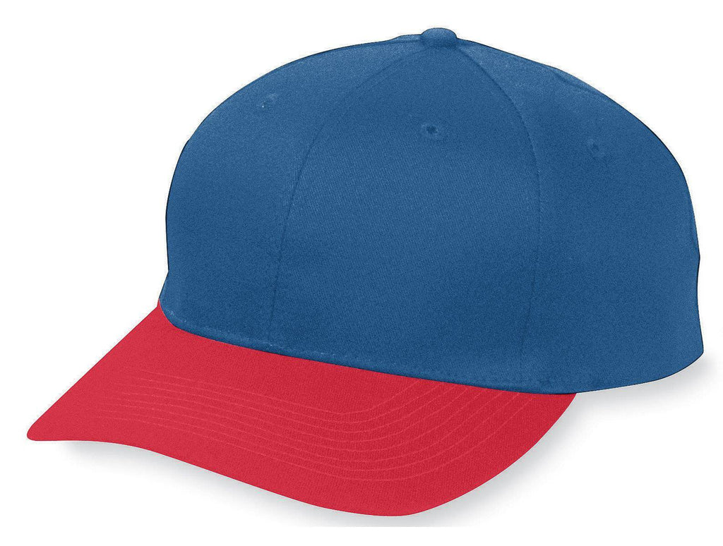 Augusta 6204 Six-Panel Cotton Twill Low-Profile Cap - Navy Red - HIT A Double