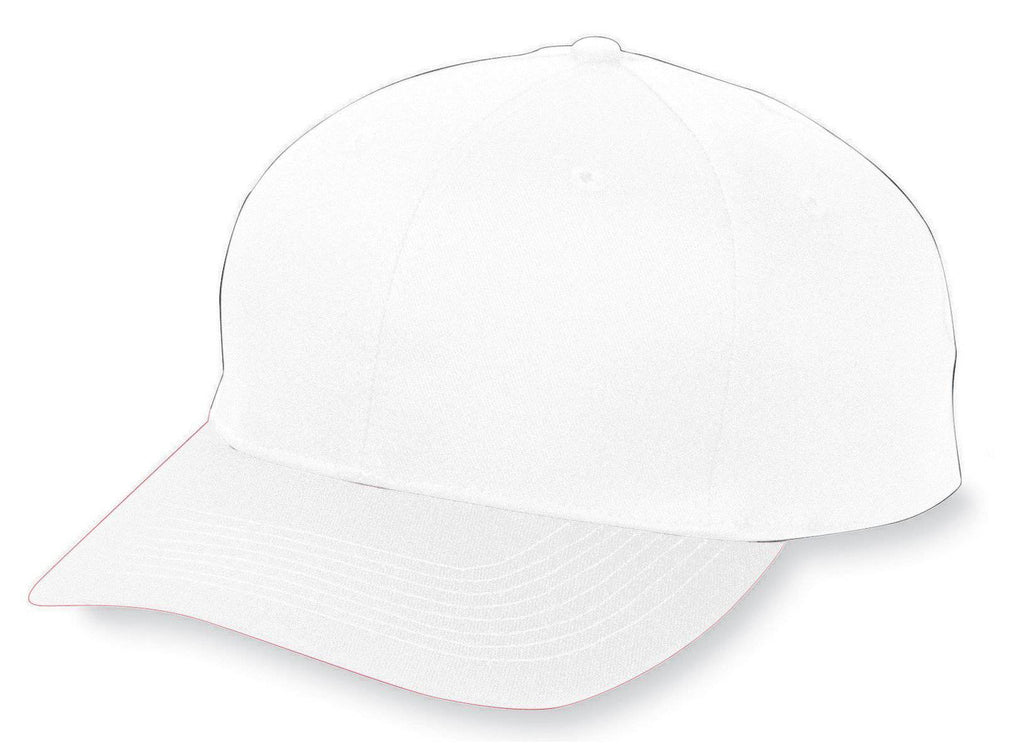 Augusta 6204 Six-Panel Cotton Twill Low-Profile Cap - White - HIT A Double