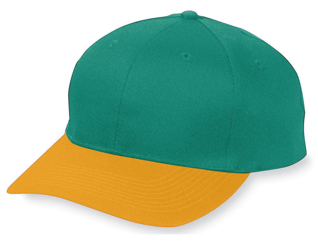 Augusta 6206 Six-Panel Cotton Twill Low-Profile Cap - Youth - DGn Gold - HIT A Double
