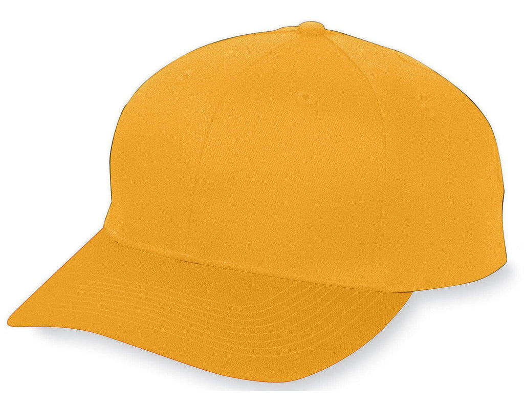 Augusta 6206 Six-Panel Cotton Twill Low-Profile Cap - Youth - Gold