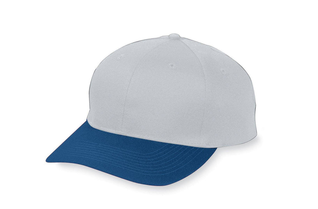 Augusta 6206 Six-Panel Cotton Twill Low-Profile Cap - Youth - Gy Ny - HIT A Double