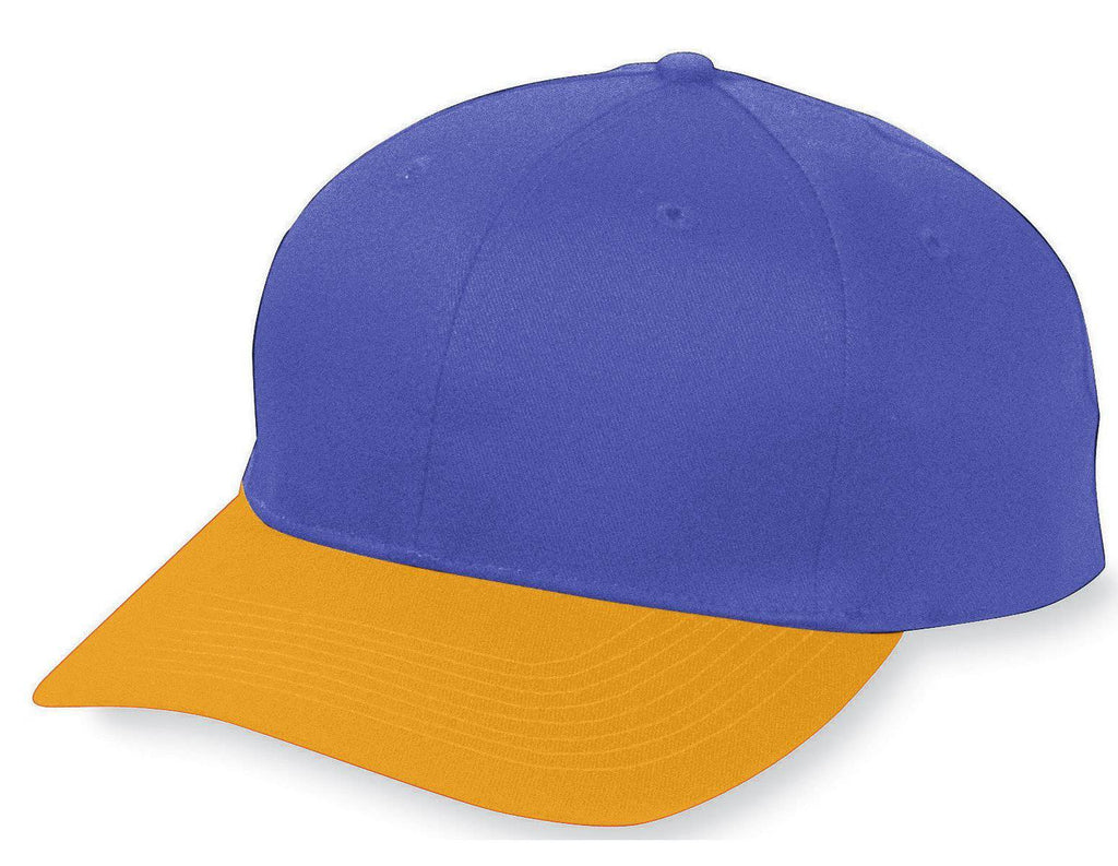 Augusta 6206 Six-Panel Cotton Twill Low-Profile Cap - Youth - Pu Gold - HIT A Double