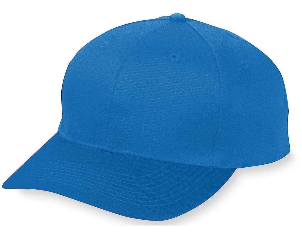 Augusta 6206 Six-Panel Cotton Twill Low-Profile Cap - Youth - Royal - HIT A Double