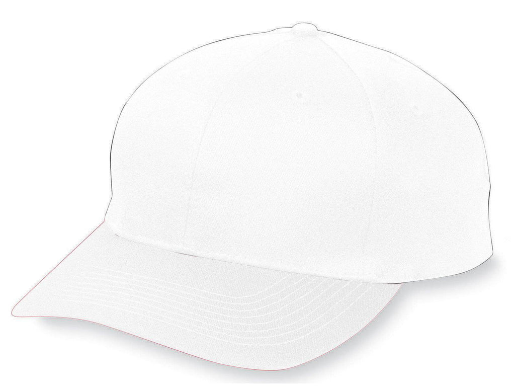 Augusta 6206 Six-Panel Cotton Twill Low-Profile Cap - Youth - White - HIT A Double