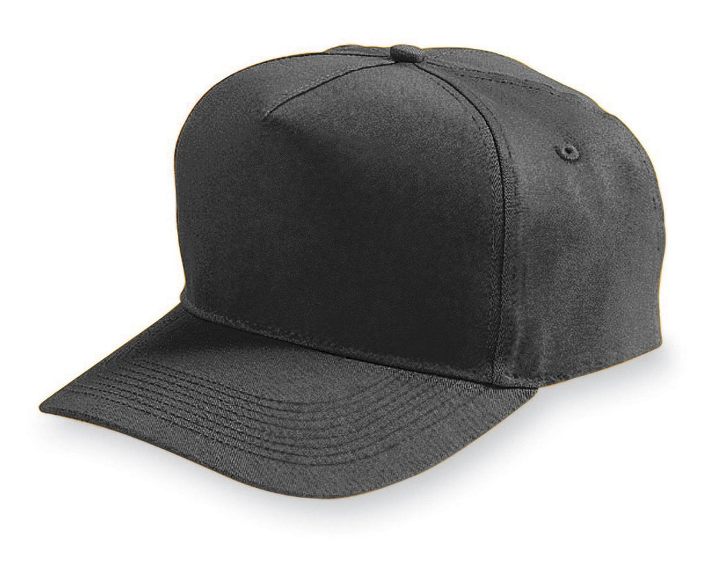 Augusta 6207 Five-Panel Cotton Twill Cap - Youth - Black - HIT A Double