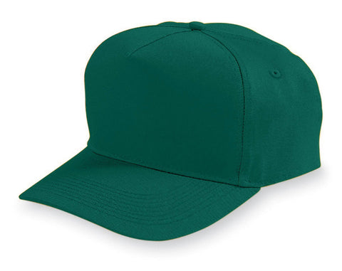 Augusta 6207 Five-Panel Cotton Twill Cap - Youth - Dark Green - HIT A Double