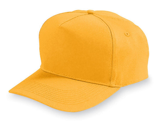 Augusta 6207 Five-Panel Cotton Twill Cap - Youth - Gold - HIT A Double