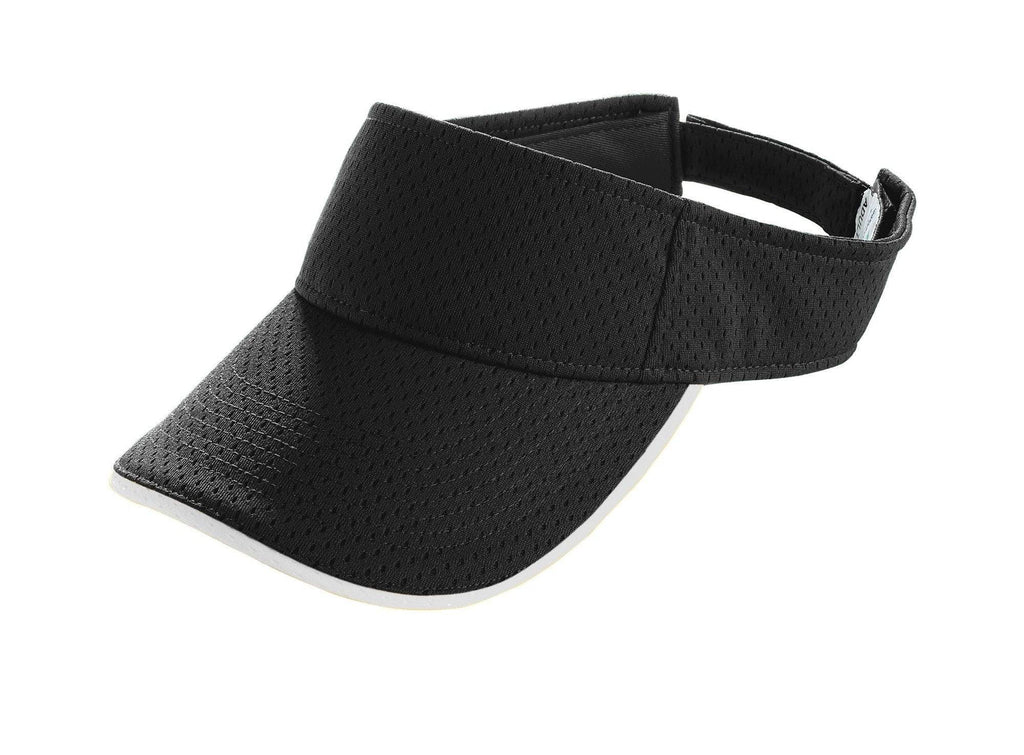 Augusta 6223 Athletic Mesh Two-Color Visor - Black White - HIT A Double