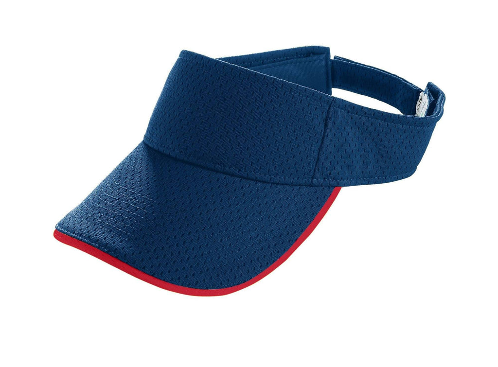 Augusta 6223 Athletic Mesh Two-Color Visor - Navy Red - HIT A Double