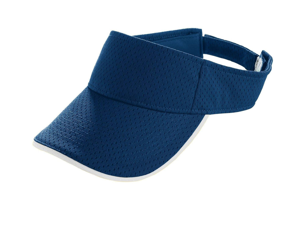 Augusta 6223 Athletic Mesh Two-Color Visor - Navy White - HIT A Double