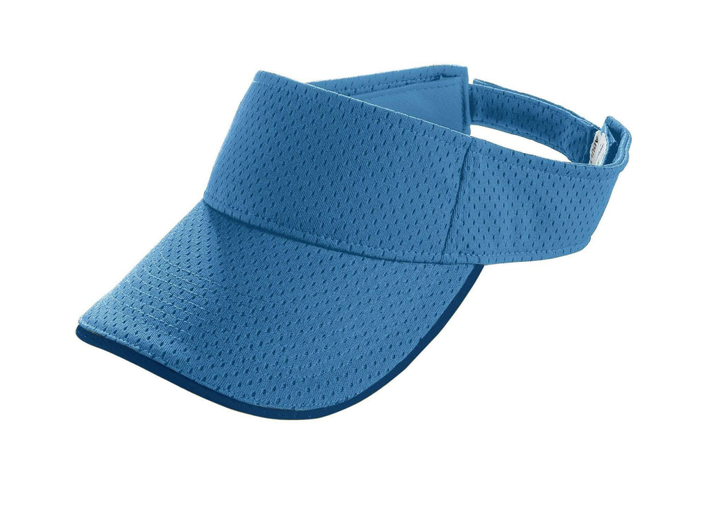 Augusta 6224 Athletic Mesh Two-Color Visor - Youth - Columbia Blue Ny - HIT A Double