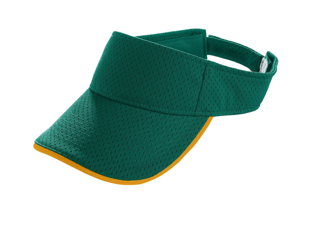 Augusta 6224 Athletic Mesh Two-Color Visor - Youth - Dark Green Gold - HIT A Double